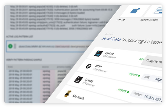 easy, automated log collection and indexing - XpoLog automated deployment wizard